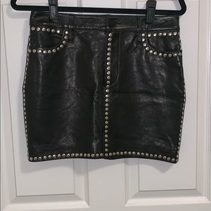 FRAME leather Studded moto mini